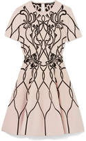 Alexander McQueen Jacquard-knit Mini Dress - Ivory