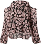 Milly floral print off-shoulder blouse - women - Silk/Nylon/Polyester/Acetate - 2