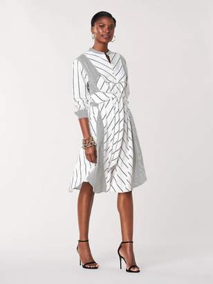 Diane von Furstenberg Jaylah Woven Knee-Length Shirt Dress