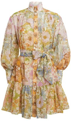 Zimmermann Super Eight Floral Mini Dress