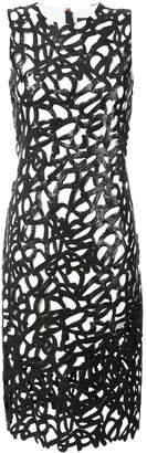 Proenza Schouler Lacquered Lace Sleeveless Dress