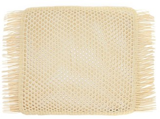 Sensi Set Of Two Fringed Rectangle Placemats - Beige