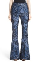 St. John Women's Floral Brocade Flare Pants