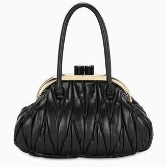 Miu Miu Black Miu Belle matelasse nappa bag