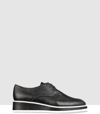 Habbot. Women's Black Brogues & Loafers - Hunter Lace-Up Derby - Size One Size, 40 at The Iconic