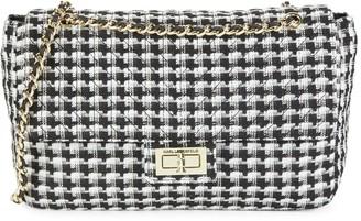 Karl Lagerfeld Paris Hoodstooth Chain Crossbody Bag