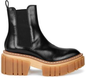 Stella McCartney Emilie 75 black faux leather ankle boots