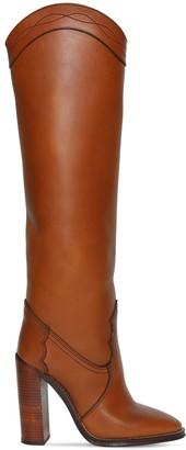 Saint Laurent 105mm Grace Leather High Boots