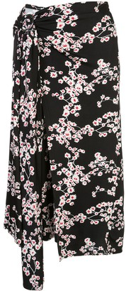 Paco Rabanne Floral Print Belted Dress