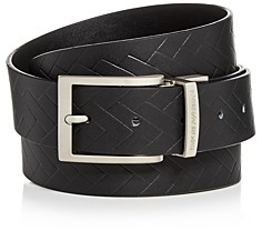 Giorgio Armani Men's Embossed Reversible Leather Belt