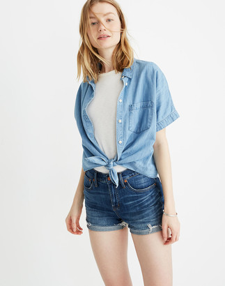 Madewell High-Rise Denim Shorts in Glenoaks Wash: Cutoff Edition