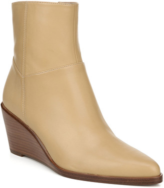 Vince Mavis Leather Wedge Booties