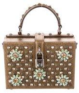 Dolce & Gabbana Crystal & Stud-Embellished Box Bag