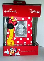 Disney Hallmark Minnie Mouse 2016 Picture Frame Christmas Tree Ornament