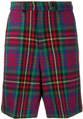 Ami plaid Bermuda shorts