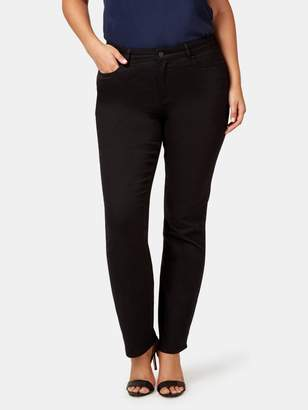 Jeanswest Curve Embracer Slim Straight Jeans Absolute Black
