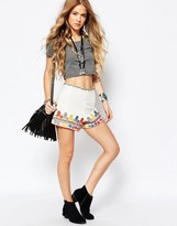 Glamorous Embroidered Shorts