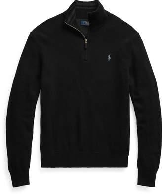 Ralph Lauren Wool-Cashmere Half-Zip Sweater