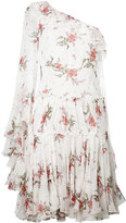 Giambattista Valli floral one shoulder dress - women - Silk - 40