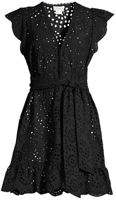 Shoshanna Eyelet Flare Cover-Up Dress