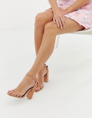 Raid Anusha blush block heeled sandals