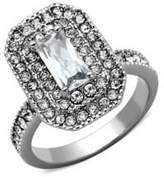 Michela Emerald Cut Crystal and Cubic Zirconia Ring