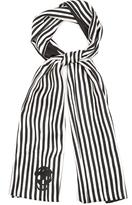 Alexander McQueen Striped silk scarf
