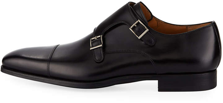 Magnanni Vekio Leather Monk-Strap Oxford