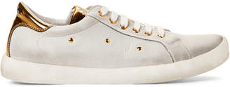 Naturino W6yz By Kids Girls) White Leather Low-Top Sneakers