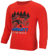 Carhartt Heather Fiery Red 'Hit the Trails' Force Logo Tee - Toddler