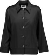 MM6 MAISON MARGIELA Twill-trimmed satin blouse