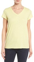 Eileen Fisher Women's Organic Cotton V-Neck Tee