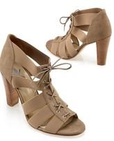 Elastic Peep-Toe Heel
