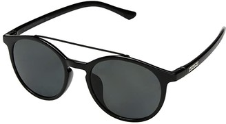 SunCloud Polarized Optics Belmont (Black/Polarized Gray Lens) Athletic Performance Sport Sunglasses