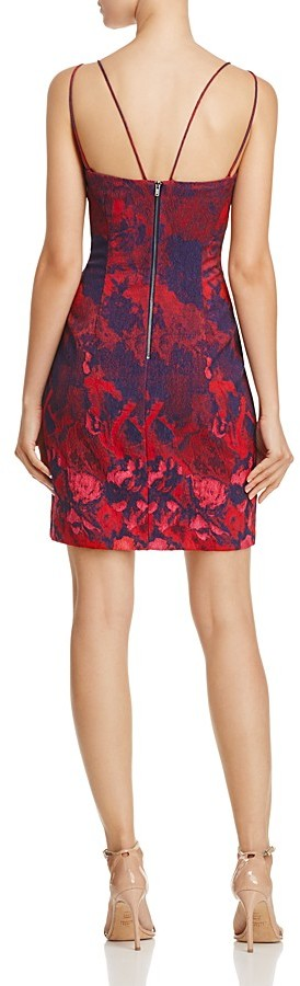 Aidan Mattox Jacquard Dress