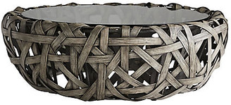 Arteriors Carlton Rattan Cocktail Table - Light Stonewash