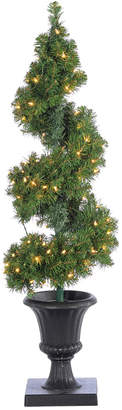 Sterling Tree Company 4Ft Pre-Lit Potted Spiral Tree