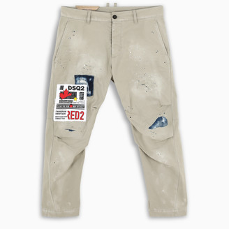 DSQUARED2 Beige patchwork trousers