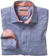 Johnston & Murphy Raised Windowpane Shirt