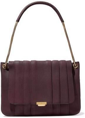 Anya Hindmarch Gracie Snakeskin-trimmed Leather Shoulder Bag