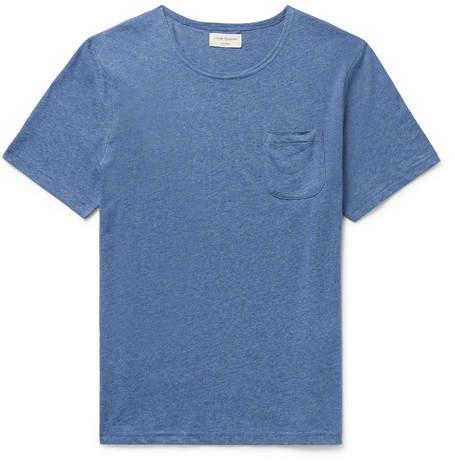 Oliver Spencer Loungewear Mélange Supima Cotton-Jersey T-Shirt
