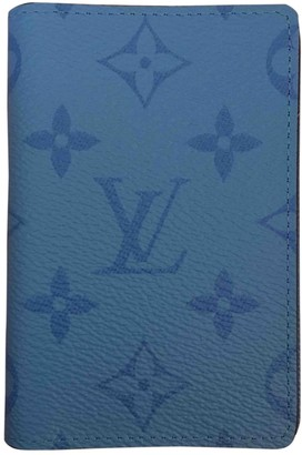 Louis Vuitton Pocket Organizer Blue Cloth Small bags, wallets & cases