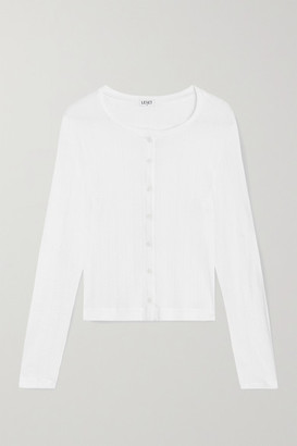 Leset Pointelle-knit Cotton-jersey Cardigan - White