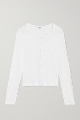 Leset Pointelle-knit Cotton-jersey Cardigan - White