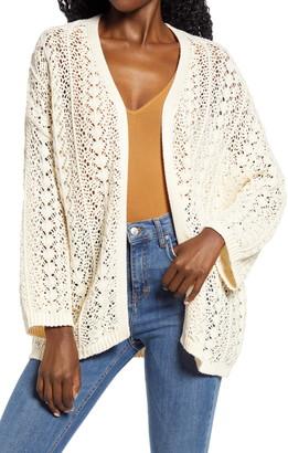 Cotton Emporium Open Knit Longline Cardigan