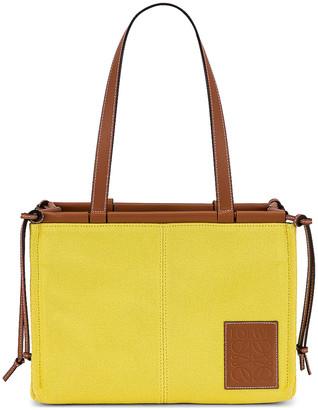 Loewe Cushion Tote Small Bag in Yellow | FWRD