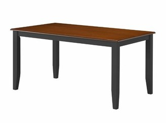 Andover Mills Lancelot Rubberwood Dining Table Base Color / Top Color: Black / Cherry