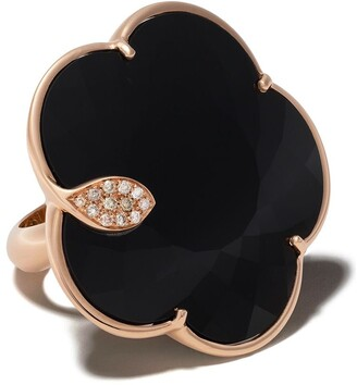 Pasquale Bruni 18kt rose gold Ton Joli onyx and diamond cocktail ring