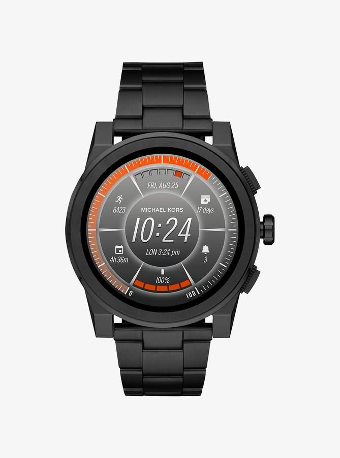 Michael Kors Grayson Black-Tone Smartwatch