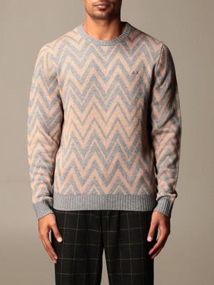 Sun 68 Zigzag Crew Neck Sweater